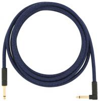 Cable Fender Festival Pure Hemp Instrument Cable, Straight/Angle, 10ft - Blue Dream