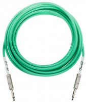 Cable Fender Original Instrument Cables, Straight, 18.6ft - Surf Green