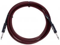 Cable Fender Professional Instrument Cable, Straight/Straight, 10ft - Red Tweed