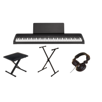 Pack piano digital Korg B2 black + Casque + Stand + Banquette - Black