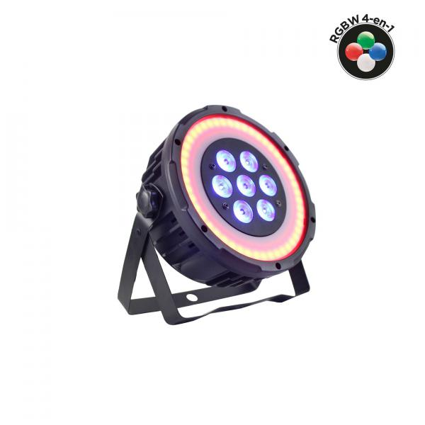 Par Power lighting Par 7x10W Quad Ring