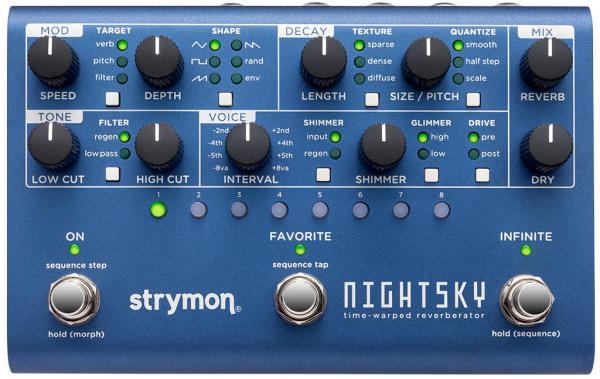 Pedal de reverb / delay / eco Strymon Nightsky Reverberator