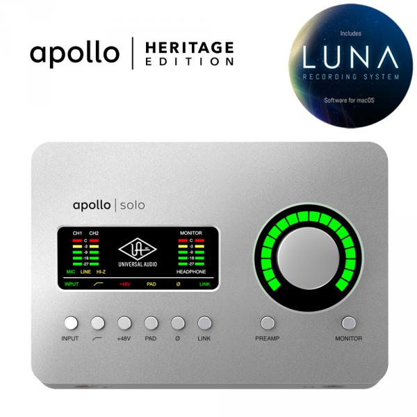Interface de audio thunderbolt Universal audio Apollo Solo Heritage Edition