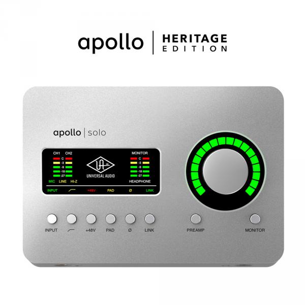 Interface de audio usb Universal audio Apollo Solo USB Heritage Edition