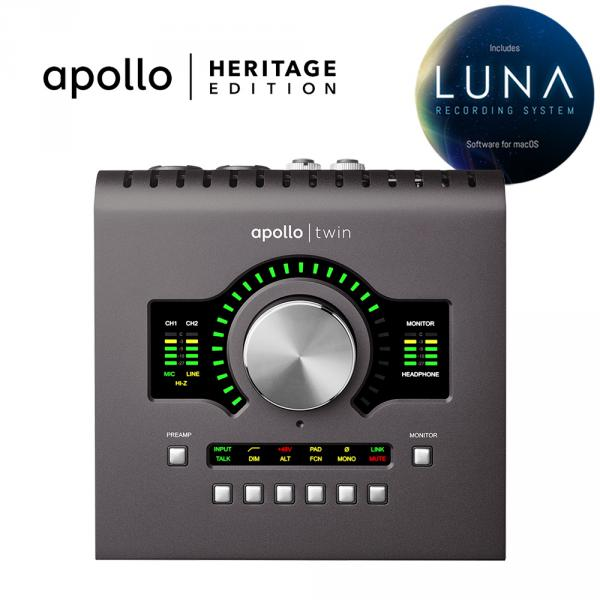 Interface de audio thunderbolt Universal audio Apollo Twin Duo MKII Heritage Edition