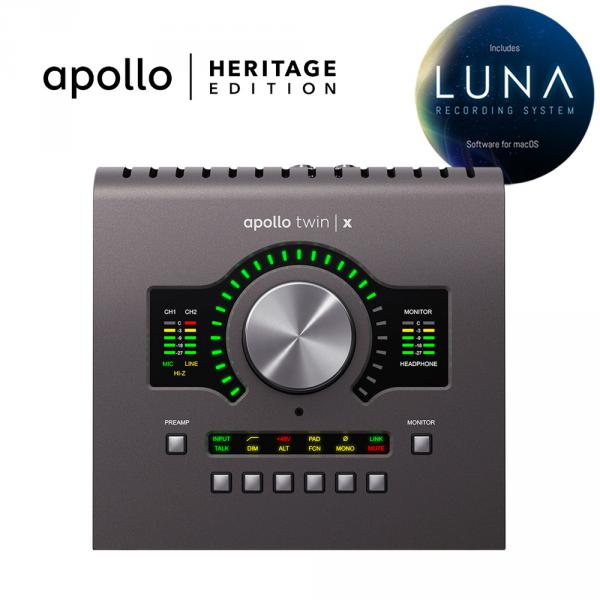 Interface de audio thunderbolt Universal audio Apollo Twin X Quad Heritage Edition