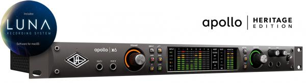 Interface de audio thunderbolt Universal audio Apollo x6 Heritage Edition