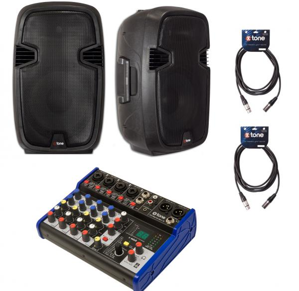 Pack sonorización X-tone Bundle SMS-12A Mix8 Dsp