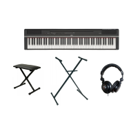 Pack piano digital Yamaha P-125B + stand en X + casque + banquette