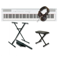 Pack piano digital Yamaha P-125WH + stand en X + casque + banquette